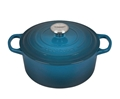 Deep Teal 5.5 quart Round Dutch Oven Signature