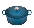 Deep Teal 7.25 quart Round Dutch Oven Signature
