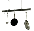 "Enclume Premier Offset Hook Ceiling Bar Pot Rack 60"" - Hammered Steel"