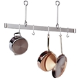 "Enclume Premier Offset Hook Ceiling Bar Pot Rack 60"" - Stainless Steel"