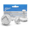 Sugar Paste Cutters - Wide Leaf, Set of 3