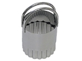 Stainless Fluted Biscuit Cutter 1.5 inches