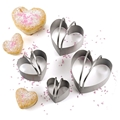 Biscuit Cutters Heart Stainless