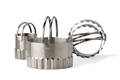 Biscuit Cutters Round Ripple Stainless