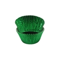 Baking Paper Liners - Mini Muffin Size - Green Foil