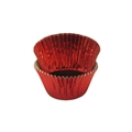 Baking Paper Liners - Mini Muffin Size - Red Foil