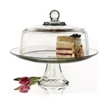 Glass Cake Stand with Dome Lid
