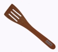 "12"" Cherry Wood Slotted Spatula"