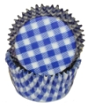 Baking Paper Liners - Blue Gingham