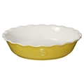 "Leaves Pie Dish 9"" (Yellow)"