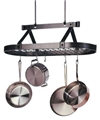 Enclume Premier Oval 3' Ceiling Rack with Grid - Hammered Steel