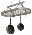 Enclume Premier Oval 3' Ceiling Rack with Grid - Stainless Steel