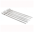 "17"" Flat Skewers - Stainless Steel, set of 6"