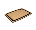 Epicurean Natural Brown Cutting Board with Slate Gray Core Juice Groove 15 x 11
