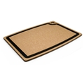 Epicurean Natural Brown Cutting Board with Slate Gray Core Juice Groove 18 x 13