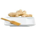 Ginger Grater - White Porcelain with Bamboo Brush