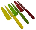 Paring Knife Nonstick - Set of 3 - Red, Yellow, Green