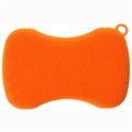 Stay Clean Silicone Scrubber - Orange