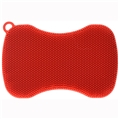 Stay Clean Silicone Scrubber - Red