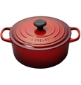 Cherry Red 5.5 quart Round Dutch Oven Signature