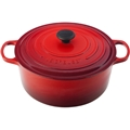 Cherry Red 9 quart Round Dutch Oven Signature