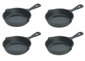Lodge Cast Iron Skillet 3.5-inch Miniature - set of 4