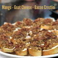 Mango-Goat Cheese-Bacon Crostini