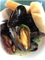 Steamed Mussels with Feta, Dill, and Tomato