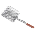 Barbecue Grill Basket with Rosewood Handle