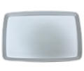 "20.75"" x 13.5"" White Porcelain Large Rectangular Platter"