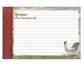4x6 Recipe Cards - Barnyard Rooster