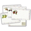 4x6 Recipe Cards and Protectors - Fruit