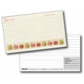 4x6 Recipe Cards and Protectors - Harvest Fruit