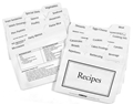3x5 Recipe Divider Cards - set of 24