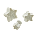 Sugar Paste Cutters - Stars, set of 3