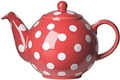 Globe Red with White Polka Dots Tea Pot - 6 cup