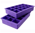 Perfect Cube Silicone Ice Cube Trays - Set of 2