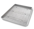 Half Sheet Pan Set with Rack by USA Pan