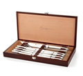 10-Piece Stainless Steel Steak Knife and Carving Set in Wood Presentation Box