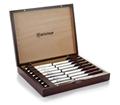8-Piece Stainless-Steel Steak Knife Set with Wooden Box