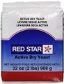 Yeast - 2 pound bag - Active Dry Yeast by Red Star