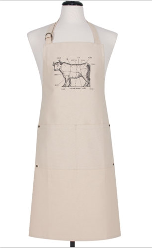 Apron - Labeled Cow
