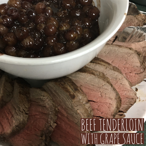 Beef Tenderloin with Roasted Red Grape Sauce