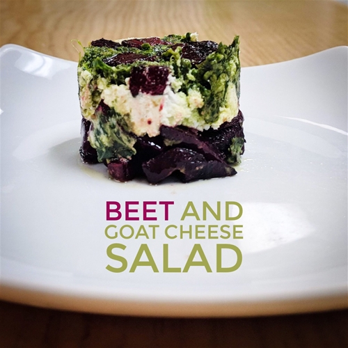 Roasted Beet-Goat Cheese Salad