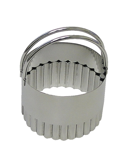 Stainless Fluted Biscuit Cutter 2 1/3 inches