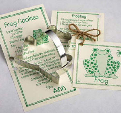 Frog Cookie Cutter with Handle