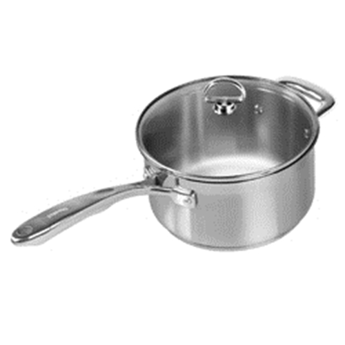 Chantal 3.5 quart Induction 21 Steel Sauce Pan with Lid