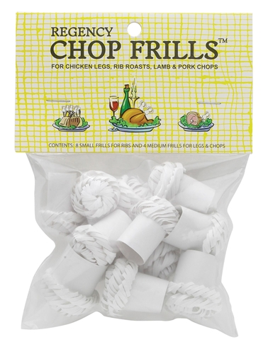 Chop Frills for Chicken Legs, Rib Roasts, Lamb and Pork Chops