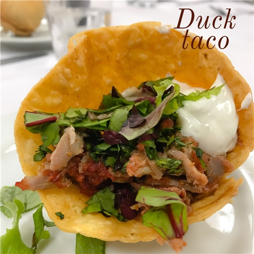 Duck Tacos with Cherry-Chipotle Sauce