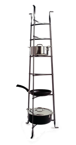 Enclume Premier 6-Tier Cookware Stand - Hammered Steel